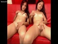 Sexy sisters sixty-nine during live cam show