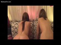 Delicious teen girls sharing their masters cock