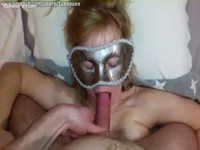 Wild girlfriend pegging her dudes ass before giving head