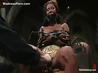 Ebony amateur girl in her first bdsm teasing movie