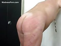 Horny guy spanking his ass hardly