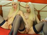 Incest with twin blonde amateur sisters in nylons