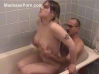 Naughty natural amateur girl fucking her father
