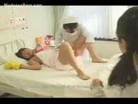 Naughty asian girl playing the part of an adult baby