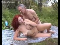 Wild redhead newcomer having bareback sex with a homeless guy