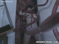 Japanese chick penetrated by tentacle monster