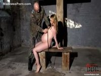 Submissive amateur pregnant girl enjoying abuse at the hands of a dominant male