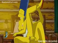 Marge Simpson getting her pussy smashed by Homer in this animated movie