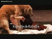 Animal sex loving mature housewives being shared by a dog