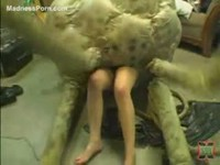 Never before seen amateur teen Elisabeth gets violated by the tentacle monster
