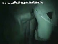 Amateur girl enjoying animal sex in this nightvission video in the barn
