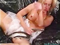 Crazy blonde haired never before seen milf stroking and sucking a cock in this reptile sex flick