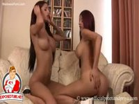 Sinful nineteen year old twin sisters getting naked and rubbing tits