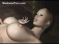 Sexy girl is fucked by a monster