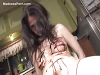 Brutal BDSM role playing video featuring a helpless slut cut and more