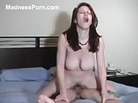 Bodacious college whore Dawn teasing and riding her studs pole