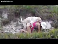 Wild sex with a dog in Rio