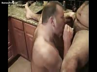 Wife records the action while her husband and his friend suck each others dick