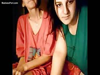 Granny and young teen chatting live on webcam before exposing themselves for strangers