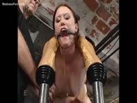 Incredible and extreme BDSM video featuring a helpless coed probed while helpless