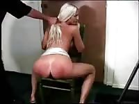 Sensational ass punishment video features a collection of beautiful whores being paddled