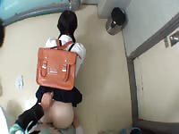 Young Asian schoolgirl bent over and fucked in the school bathroom by the school doctor