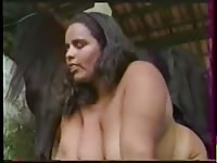 Amazing never before seen BBW gets drilled by worked up dog in this stunning bestiality vid